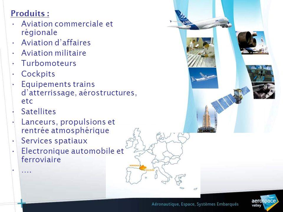 Produits :Aviation commerciale et régionale. Aviation d'affaires. Aviation militaire. Turbomoteurs.