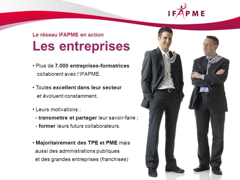 Les entreprises Le réseau IFAPME en action