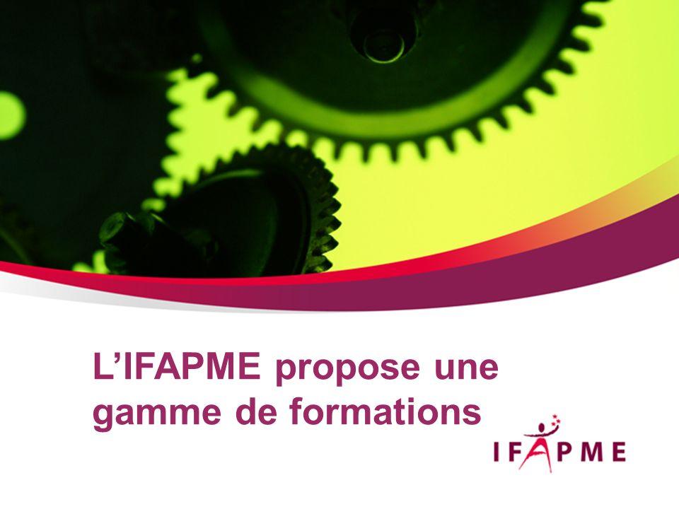 L'IFAPME propose une gamme de formations