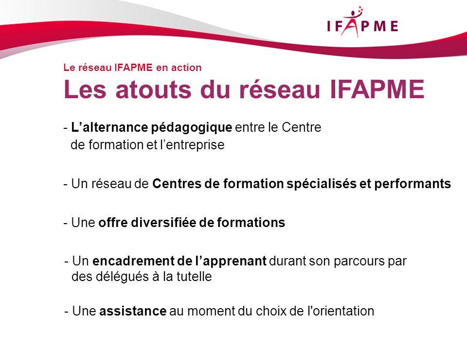 Les atouts du réseau IFAPME