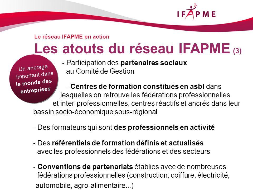 Les atouts du réseau IFAPME (3)