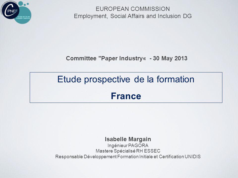 Etude prospective de la formation France