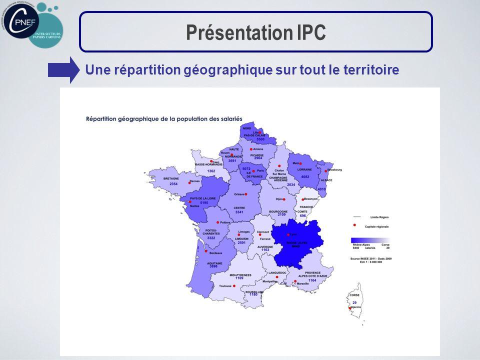 Présentation IPC Une répartition géographique sur tout le territoire