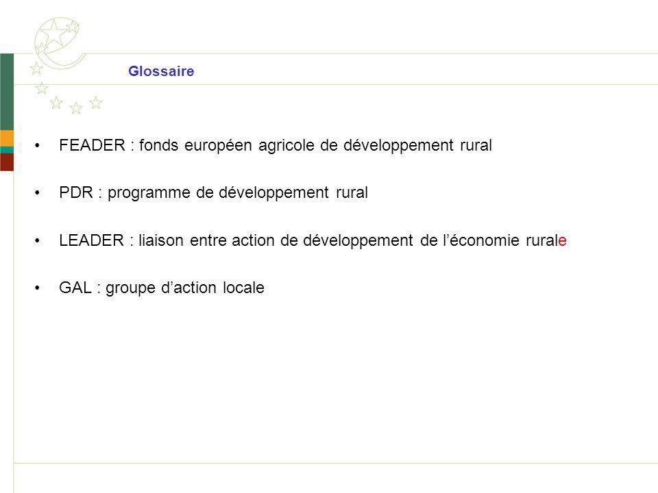 FEADER : fonds européen agricole de développement rural
