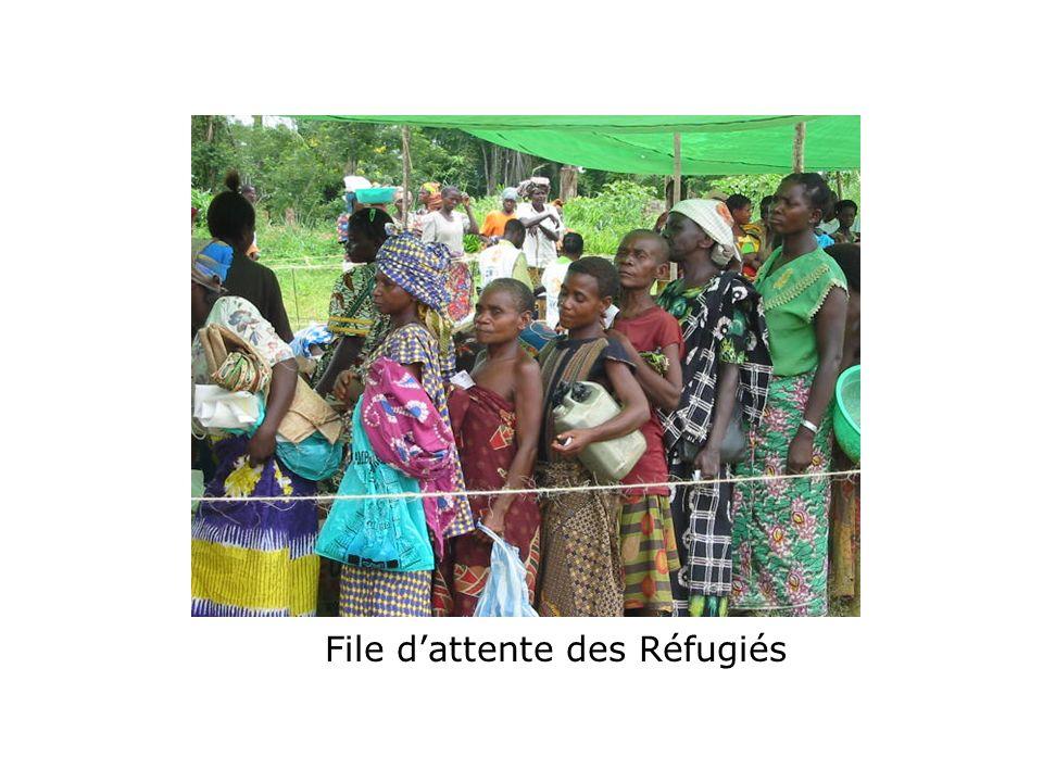 File d'attente des Réfugiés
