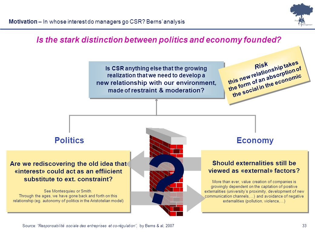 Is the stark distinction between politics and economy founded