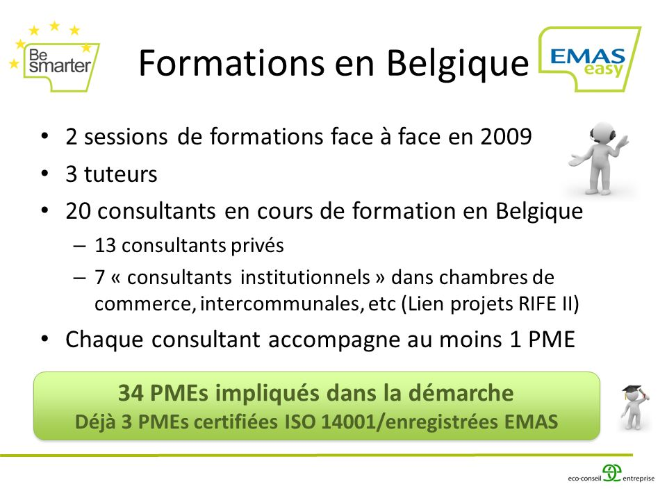 Formations en Belgique