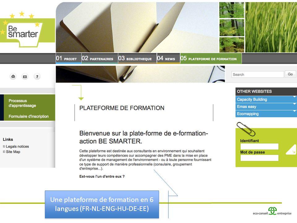 Une plateforme de formation en 6 langues (FR-NL-ENG-HU-DE-EE)
