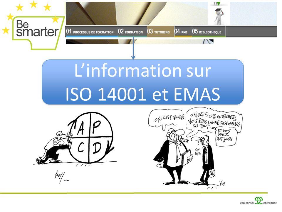 L'information sur ISO 14001 et EMAS