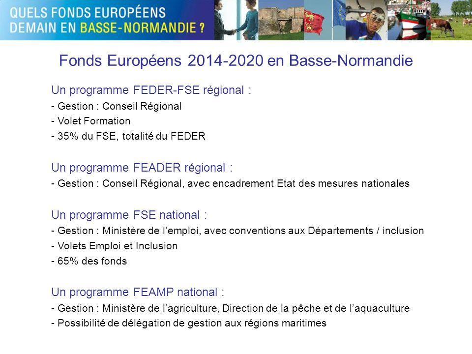 Fonds Européens 2014-2020 en Basse-Normandie