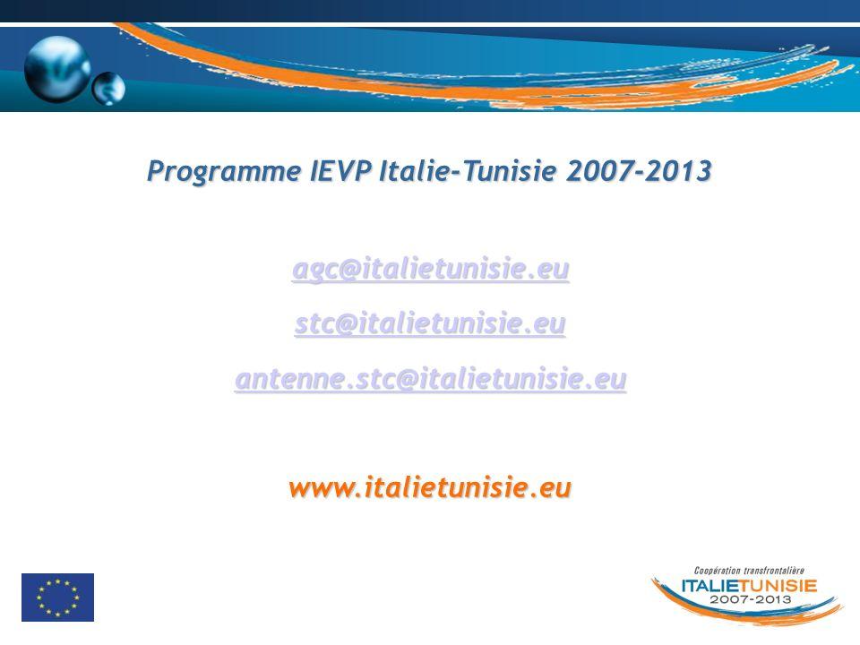 Programme IEVP Italie-Tunisie 2007-2013