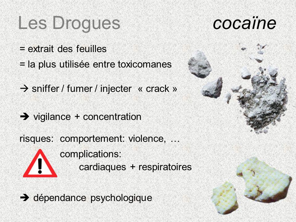 Les Drogues cocaïne = extrait des feuilles