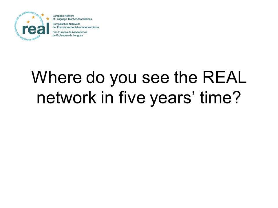Where do you see the REAL network in five years' time
