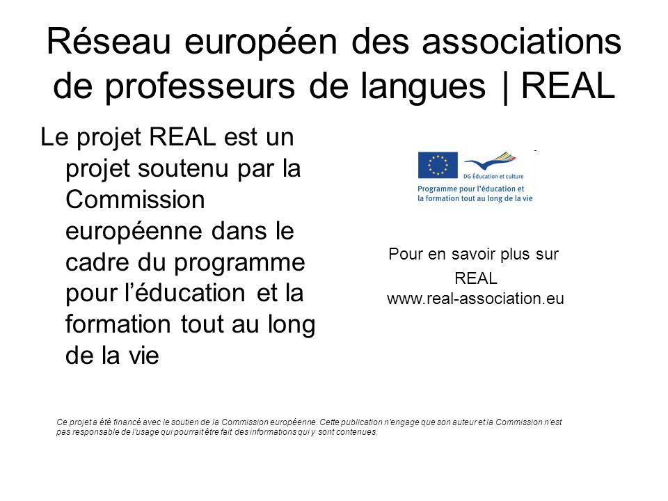 Réseau européen des associations de professeurs de langues | REAL