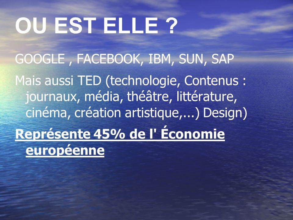 OU EST ELLE GOOGLE , FACEBOOK, IBM, SUN, SAP