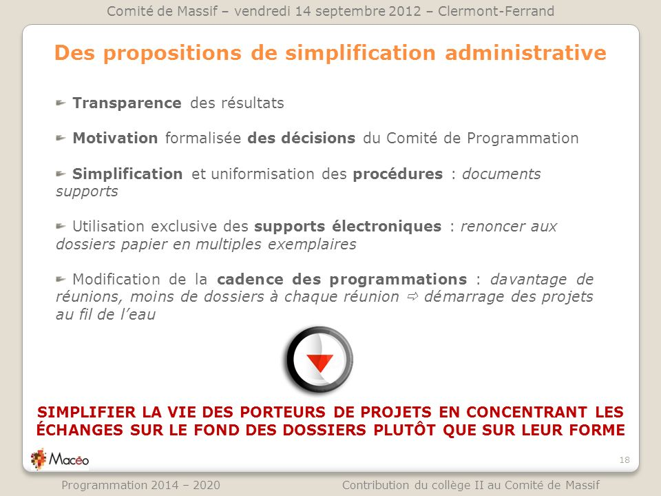 Des propositions de simplification administrative