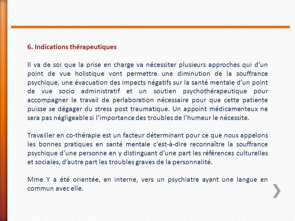 6. Indications thérapeutiques