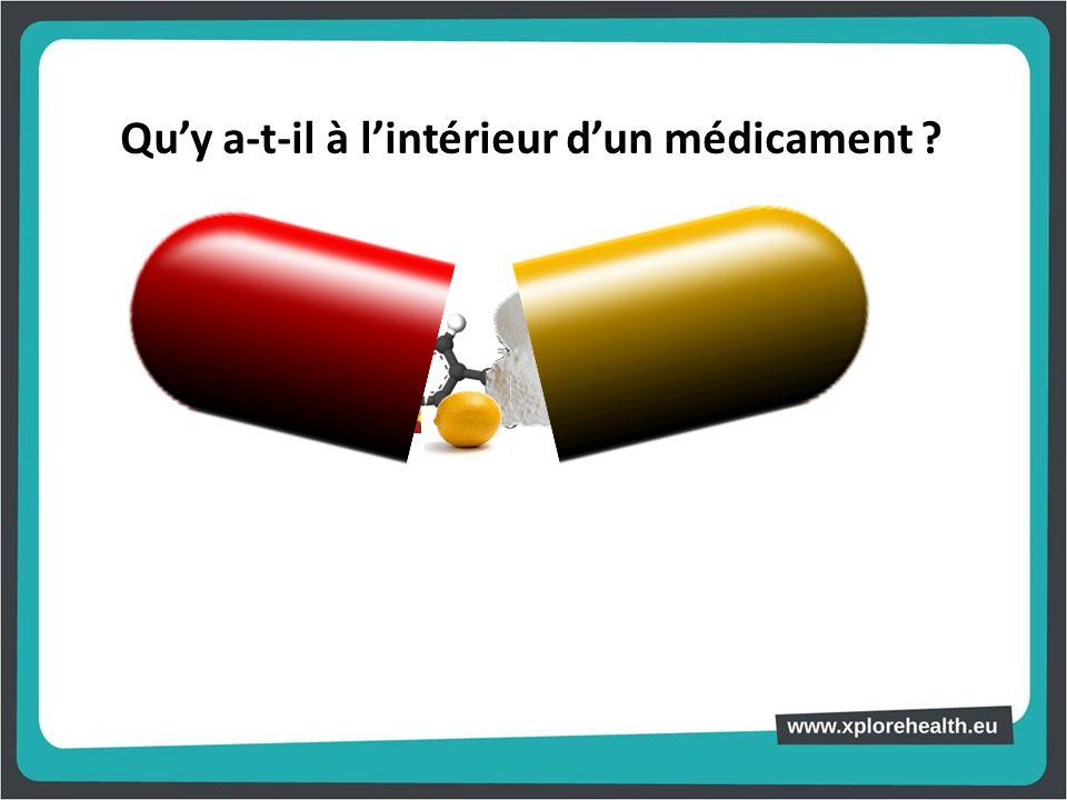 Qu'y a-t-il à l'intérieur d'un médicament