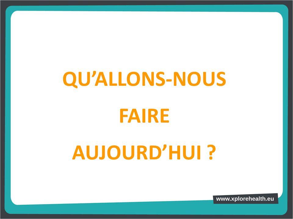 QU'ALLONS-NOUS FAIRE AUJOURD'HUI