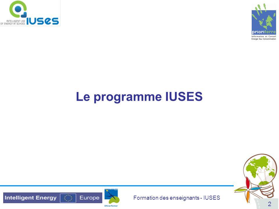 Le programme IUSES