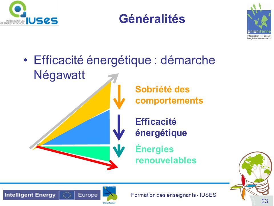 Efficacité énergétique : démarche Négawatt