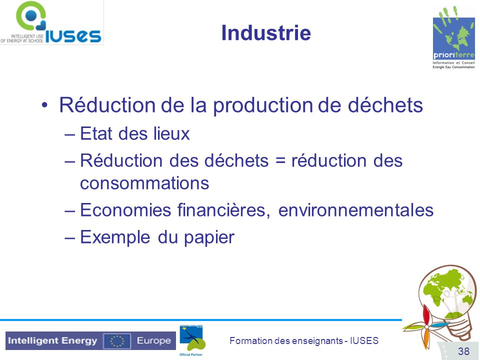Réduction de la production de déchets