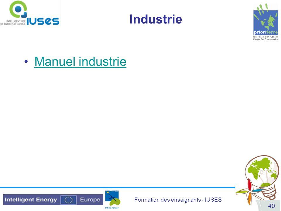 Industrie Manuel industrie