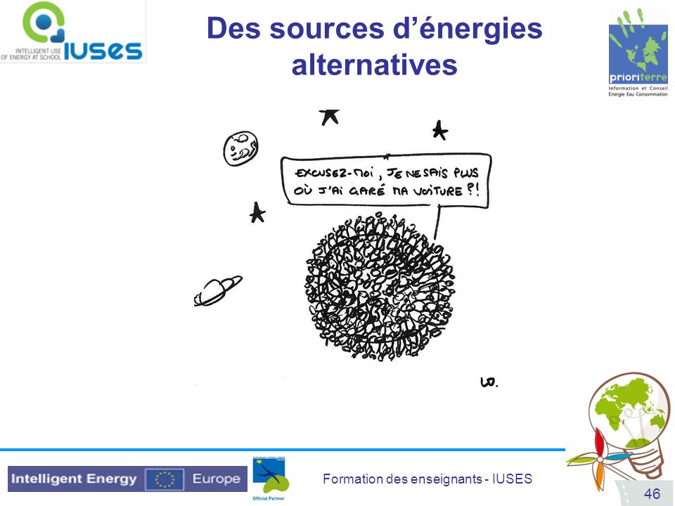 Des sources d'énergies alternatives