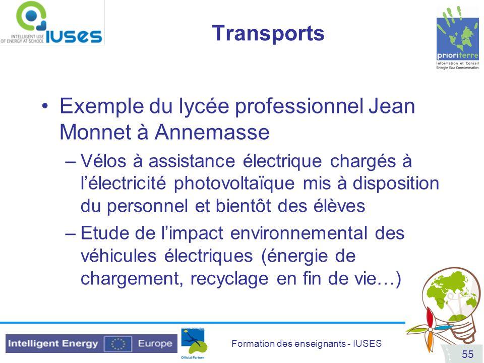 Exemple du lycée professionnel Jean Monnet à Annemasse