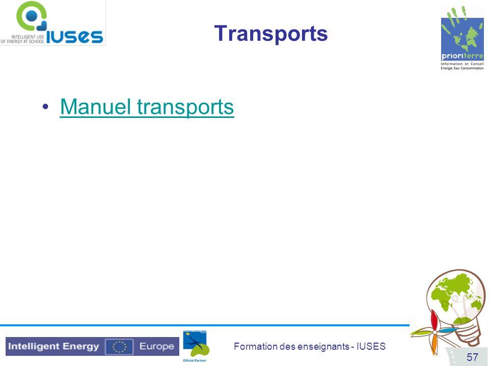 Transports Manuel transports
