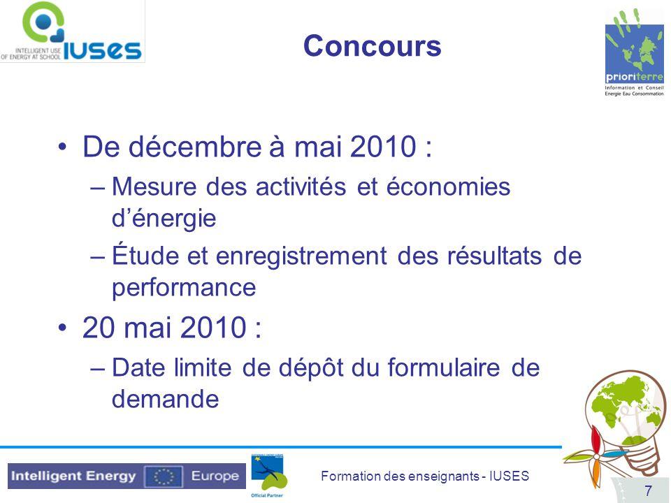 Concours De décembre à mai 2010 : 20 mai 2010 :