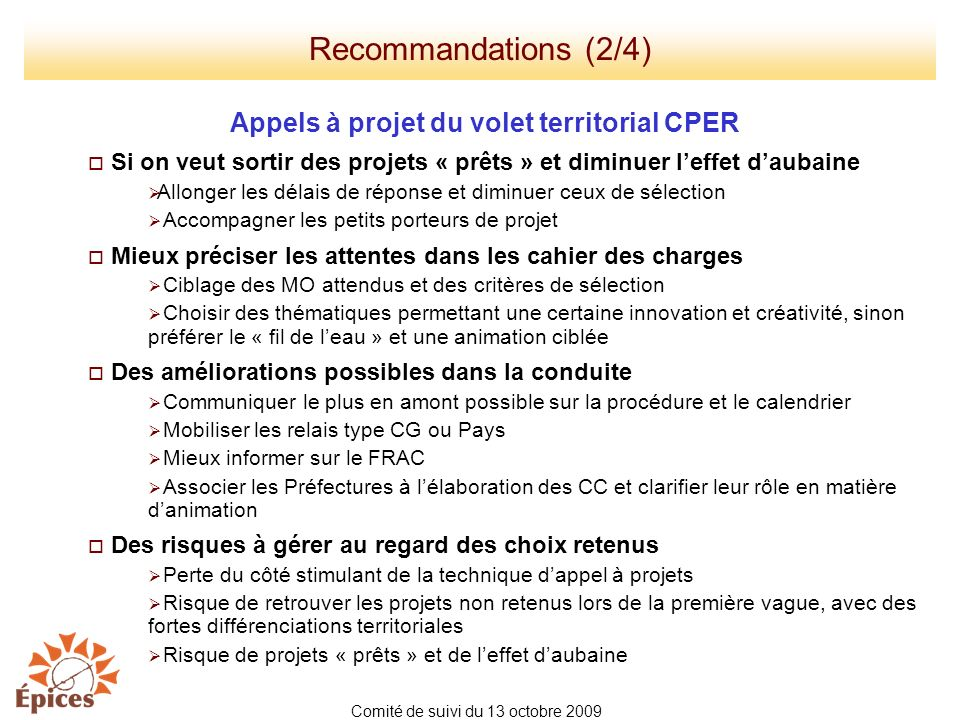 Appels à projet du volet territorial CPER