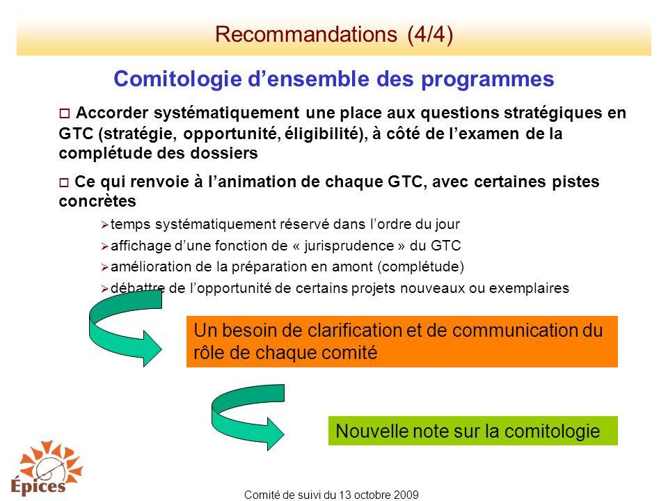 Comitologie d'ensemble des programmes