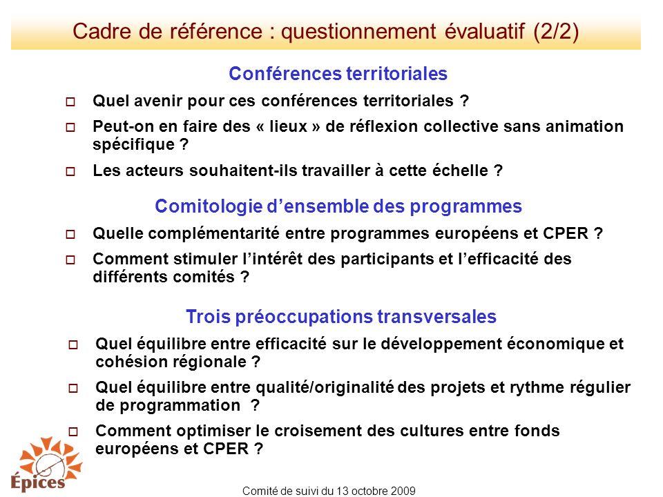 Cadre de référence : questionnement évaluatif (2/2)