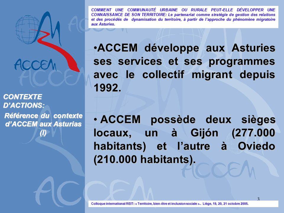 Référence du contexte d'ACCEM aux Asturias (I)