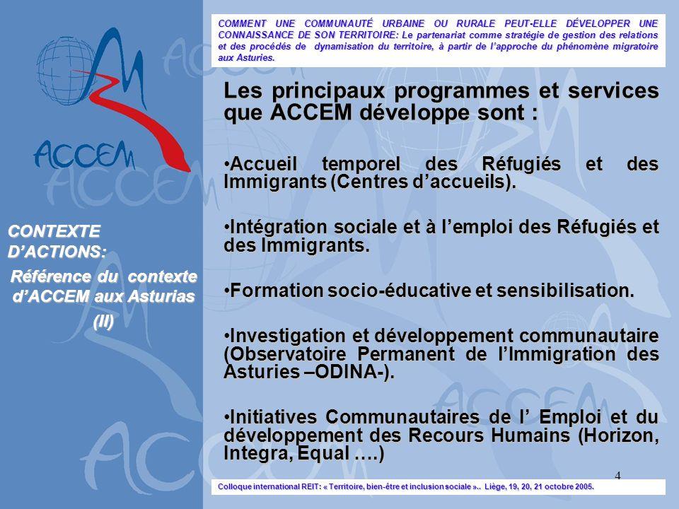 Référence du contexte d'ACCEM aux Asturias
