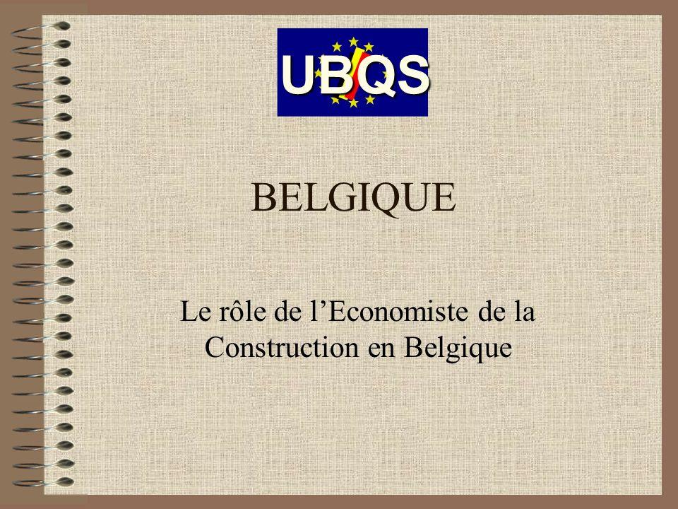 Le rôle de l'Economiste de la Construction en Belgique