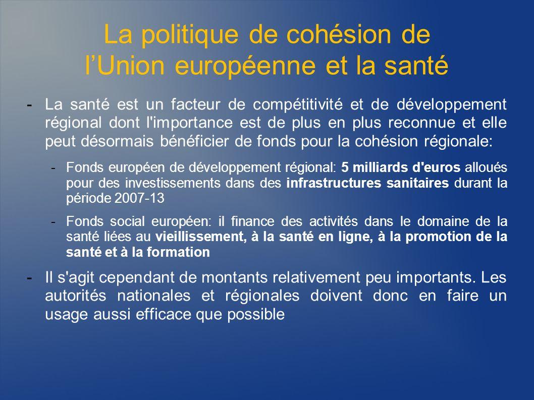La politique de cohésion de l'Union européenne et la santé