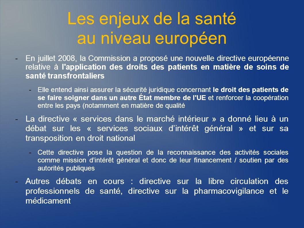 Les enjeux de la santé au niveau européen