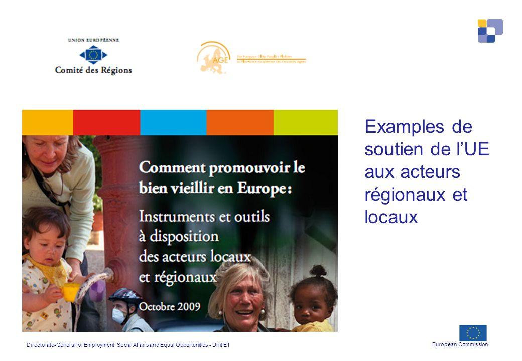 Examples de soutien de l'UE aux acteurs régionaux et locaux