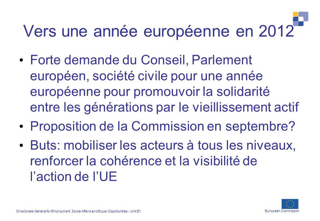 Vers une année européenne en 2012
