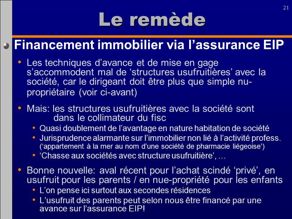 Le remède Financement immobilier via l'assurance EIP