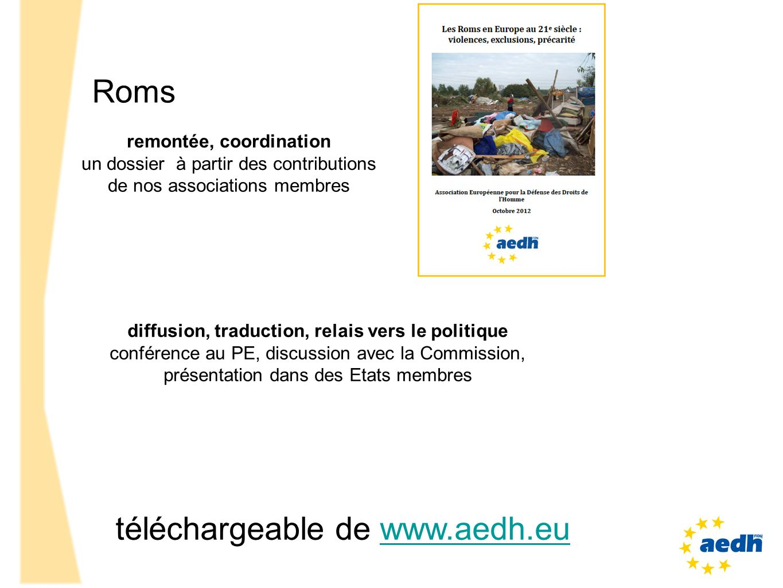 remontée, coordination diffusion, traduction, relais vers le politique