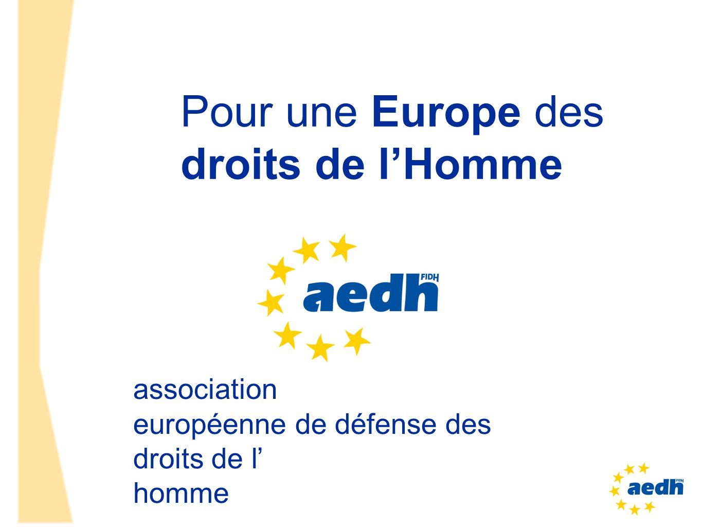 Pour une Europe des droits de l'Homme