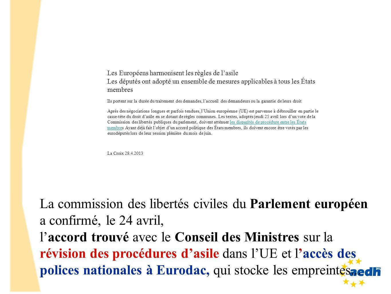 La commission des libertés civiles du Parlement européen