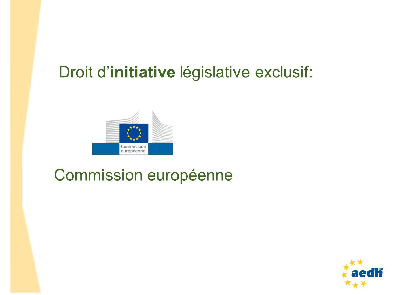 Droit d'initiative législative exclusif: