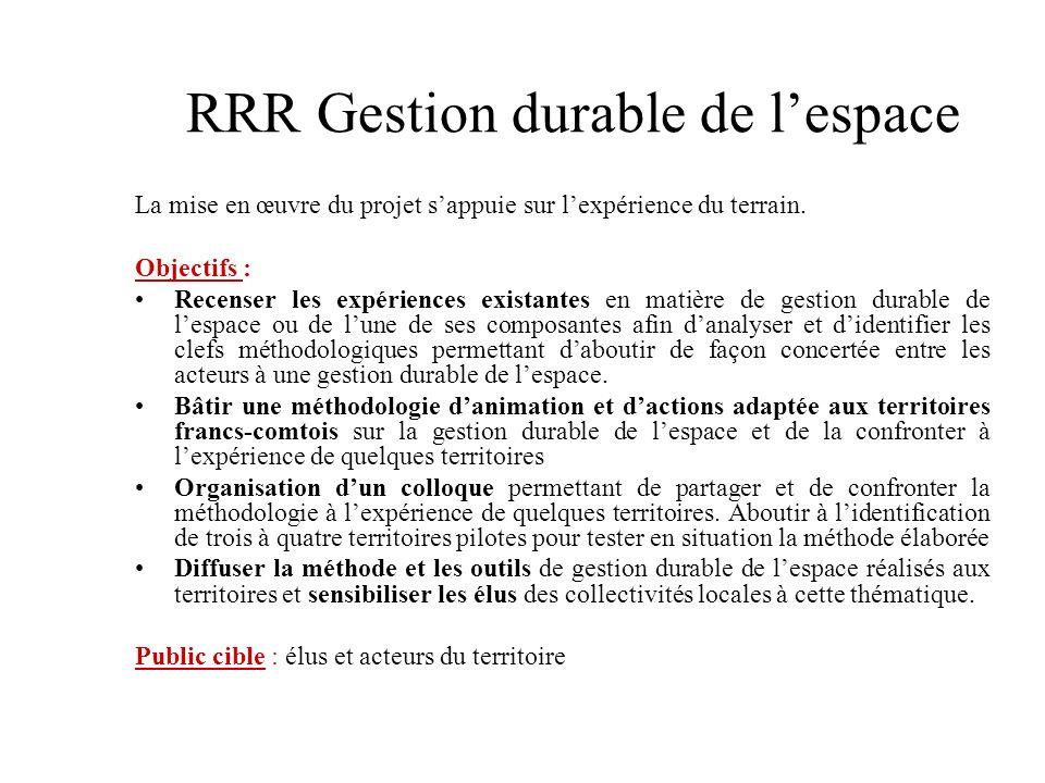 RRR Gestion durable de l'espace