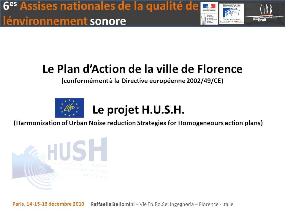 Le Plan d'Action de la ville de Florence (conformément à la Directive européenne 2002/49/CE)