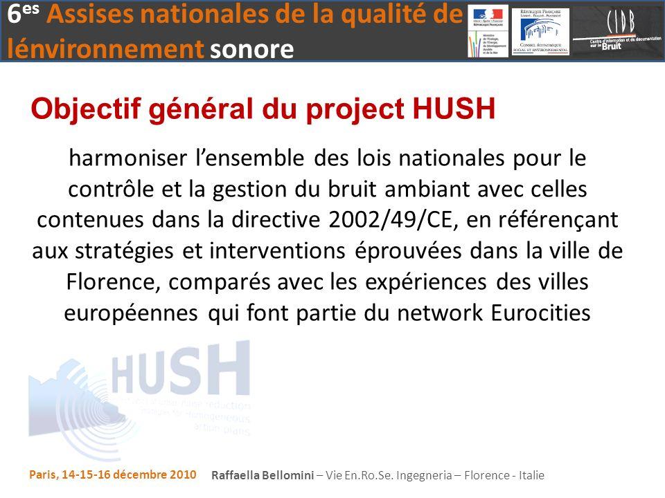 Objectif général du project HUSH