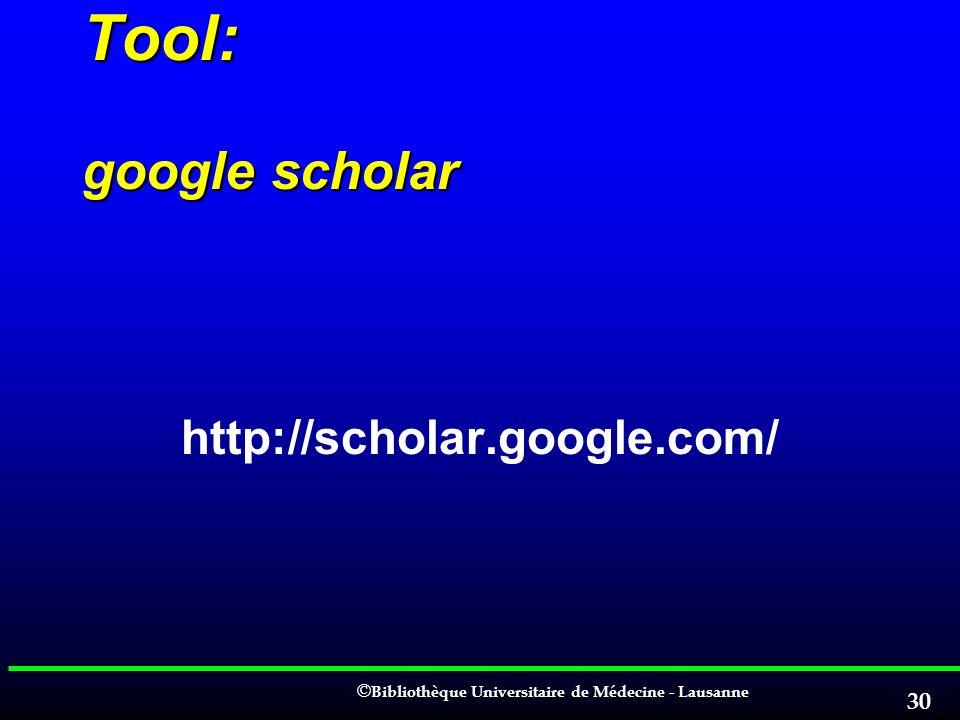 Tool: google scholar http://scholar.google.com/